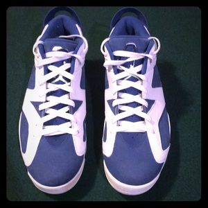 Jordan retro 6 low (blue & white)